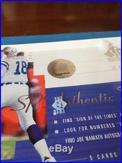 2000 Sp Authentic Football Box Brady Rookie Factory Sealed Upper Deck Gem Mint