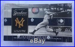 2000 Upper Deck Yankee's Legends Factory Sealed Baseball Hobby Box