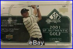 2001 Upper Deck Sp Authentic Golf Hobby Sealed Factory Box Tiger Woods Rc