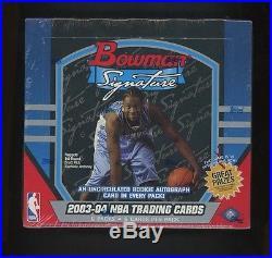 2003-04 Bowman Signature Hobby Sealed Basketball Box LeBron James Dwyane Wade RC