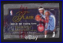 2003-04 Fleer Flair Sealed Basketball Hobby Box Lebron James Dwyane Wade RC YR