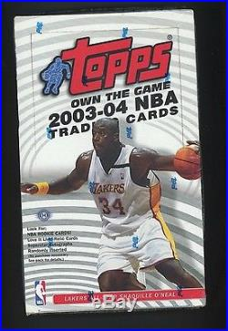 2003-04 Topps Basketball Factory Sealed Hobby Box Lebron James Wade Bosh RC YR