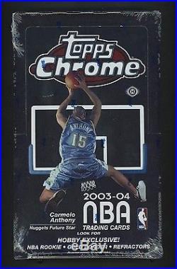 2003-04 Topps Chrome Basketball Hobby Sealed Box Lebron James Wade RC YR