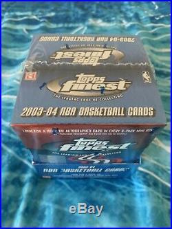2003-04 Topps Finest Hobby Basketball Box Sealed LeBron James Rookie RCAuto