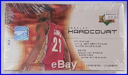 2003 04 UD Hardcourt Basketball Sealed Hobby Box 15 Packs, 5 Cards Per Pack
