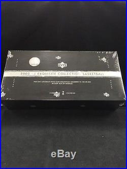 2003-04 Upper Deck Exquisite Collection Basketball Factory Sealed Box Lebron RC
