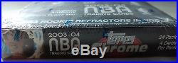 2003-2004 Topps Chrome NBA Basketball Cards SEALED COUNTER BOX SUPER RARE
