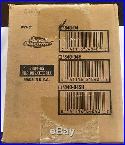 2004-05 Topps Chrome Basketball 8 Box Case Factory Sealed HTF