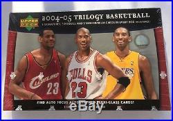 2004-05 Upper Deck Trilogy NBA Sealed Hobby Box Michael Jordan Lebron Auto