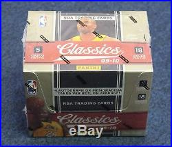2009-10 Panini Classics Unopened Sealed Box with 18 Packs Stephen Curry RC Year