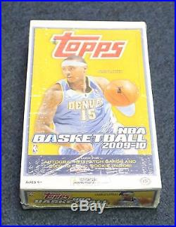 2009-10 Topps Basketball Unopened Sealed Box with 36 Packs Stephen Curry RC Year