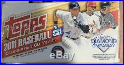 2011 TOPPS UPDATE FACTORY SEALED retail Box -24ct TROUT/Altuve/Goldschmidt/JD