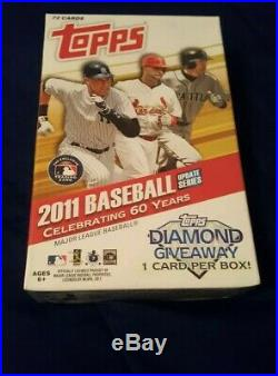 2011 Topps Update Baseball Hanger Box Factory Sealed Mike Trout Altuve Rookie