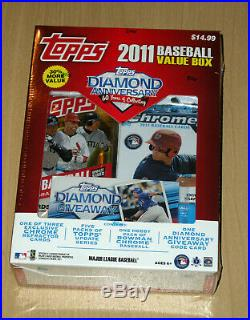 2011 Topps Value baseball factory sealed box 5 update+1 Bowman chrome pack Trout