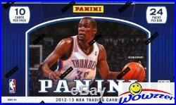 2012/13 Panini Basketball Factory Sealed HOBBY Box+2 AUTO+19 INSERT! KAWHI RC YR