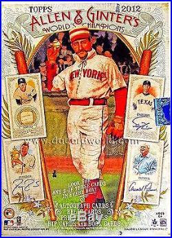2012 Topps Baseball Allen & Ginter 12 Box Hobby Case Factory Sealed