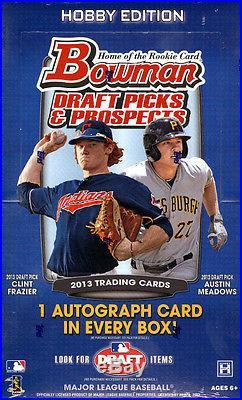 2013 Bowman Draft Picks & Prospects Baseball SEALED 12-BOX HOBBY CASE