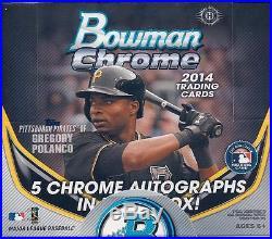 2014 Bowman Chrome Baseball HTA Jumbo Box Factory Sealed Kris Bryant
