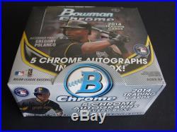 2014 Bowman Chrome JUMBO Baseball Sealed Box Of 12 Packs 5 Autos Bryant