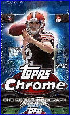 2014 Topps Chrome Football Hobby Sealed 12 Box Case Jimmy Garoppolo Rookie Card