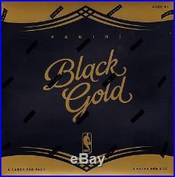 2015-16 Panini Black Gold Basketball sealed hobby box 2 packs of 4 NBA cards