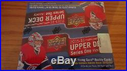 2015/16 UD Ser. 1 Hockey Factory Sealed 24 Pack Retail Box-6 Young Guns + Jersey
