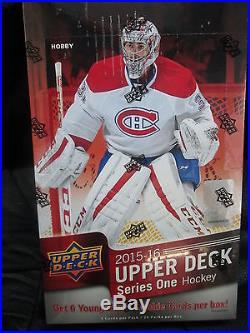 2015-16 Upper Deck Series 1 Hockey Hobby Sealed Box