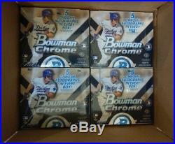 2015 Bowman CHROME Baseball Sealed HTA JUMBO 8 BOX CASE (5 CHROME AUTO per Box)