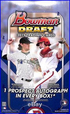2015 Bowman Draft Picks & Prospects Baseball 12 Hobby Box Sealed CASE