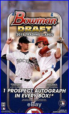 2015 Bowman Draft Picks & Prospects Baseball 12 Hobby Box Sealed Case BENINTENDI