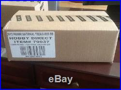 2015 Panini National Treasures Baseball Cards Factory Sealed 4 Box Case