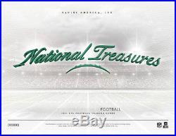 2015 Panini National Treasures Football Factory Sealed Hobby 4 Box Case