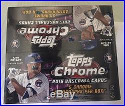 2015 Topps Chrome Baseball Jumbo Box Factory Sealed
