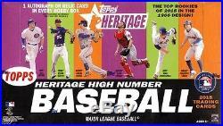 2015 Topps Heritage High Number Baseball Factory Sealed 12 Box Hobby Case
