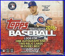 2015 Topps Update Series Baseball Jumbo Factory Seal Hobby Box
