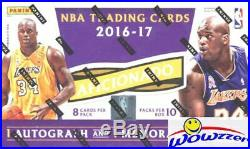 2016/17 Panini Aficionado Basketball Factory Sealed HOBBY Box-2 AUTOGRAPH/MEM