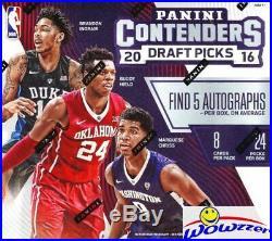 2016/17 Panini Contenders Draft Picks Basketball Factory Sealed HOBBY Box-5 AUTO