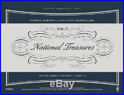2016/17 Panini National Treasures Basketball Factory Sealed Hobby 4 Box Case