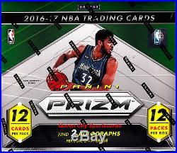 2016/17 Panini Prizm Basketball Factory Sealed Jumbo Box