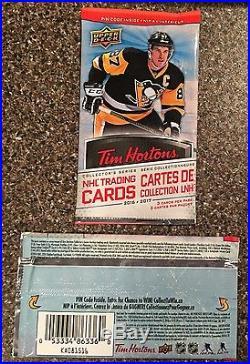 2016/17 Upper Deck Tim Hortons Hockey Cards Full Box 100 sealed packs NO RESERVE
