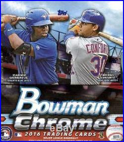 2016 Bowman Chrome Baseball Factory Sealed 12 Box Hobby Case (24 Autographs)