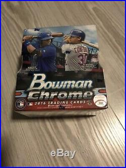 2016 Bowman Chrome Baseball Factory Sealed Hobby Box (2 Autographs Per Box)
