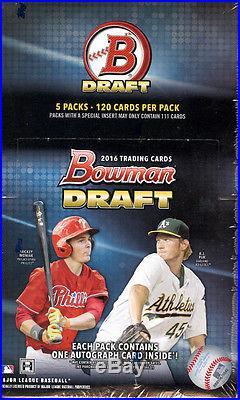 2016 Bowman DRAFT baseball sealed hobby 6-box SUPER JUMBO case