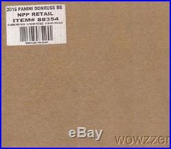 2016 Donruss Baseball Factory Sealed 20 Box CASE(24 packs Per)-20 AUTOGRAPH/MEM