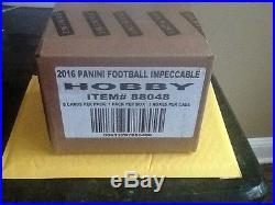2016 Panini Impeccable Football 3 Box Factory Sealed Case