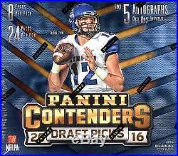 2016 Panini Contenders Draft Picks Football Hobby Sealed Box In Stock