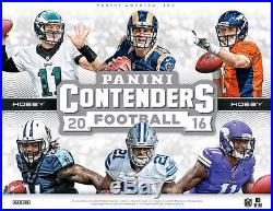2016 Panini Contenders Football Factory Sealed Hobby Box 24 packs with 5 cards