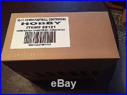 2016 Panini Contenders Hobby Football Factory Sealed 12 Box Case
