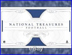 2016 Panini National Treasures Football 4 Hobby Box Case (Factory Sealed)