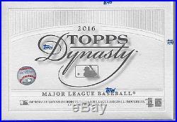 2016 Topps Dynasty Baseball Factory Sealed HOBBY BOX ready to ship LIVE